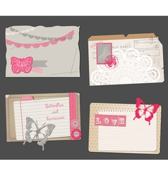 Set of Vintage Papers vector image