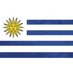 True proportions Uruguay flag with texture vector image vector image