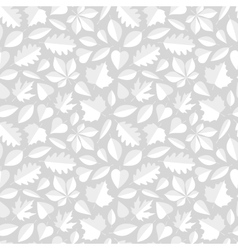 White Leaves Seamless Pattern vector image