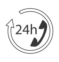 24h phone support icon vector image