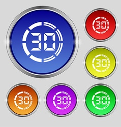 30 second stopwatch icon sign Round symbol on vector