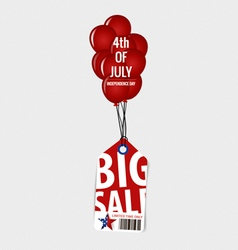 4 th of July Happy independence day Sale Coupon vector image