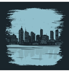 Background building city vector image