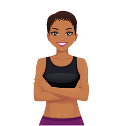 beautiful sport woman portrait vector image