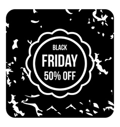 Black friday icon grunge style vector