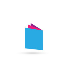 book folder icon logo isolated vector image