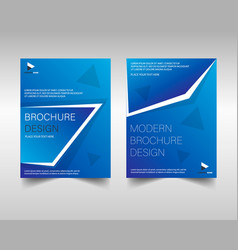 brochure template layout design vector image
