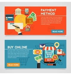 Buy Online And Payment Methods Concept vector image