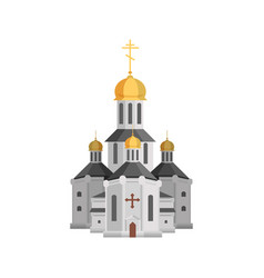 Cartoon holy church of christian religion with vector
