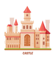 castle fairy palace medieval fantasy kingdom fort vector image