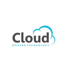 Cloud modern logo for internet or technology vector