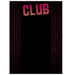 Club Dance Background vector image