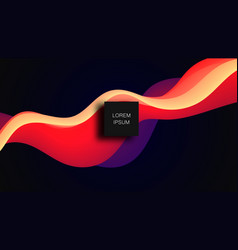 colorful wave dynamic flow background vector image