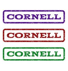 Cornell watermark stamp vector