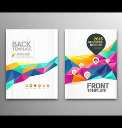 Cover report colorful triangle geometric shapes vector image