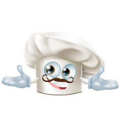 cute chef hat mascot vector image