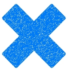 Delete X-Cross Grainy Texture Icon vector