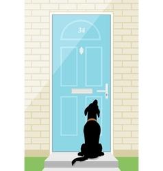 Door dog vector