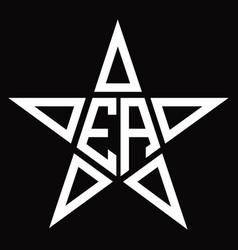 Ea logo monogram with star shape design template vector