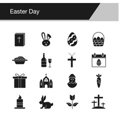 easter icons design for presentation graphic vector image