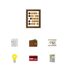 Flat icon finance set of counter payment vector