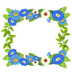 Floral border design vector