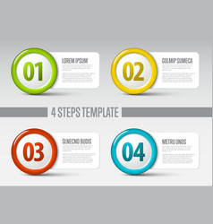 Four steps circle template vector