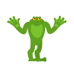 Frog confused oops toad perplexed emotions anuran vector
