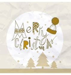 Funny Typography Christmas Background vector image