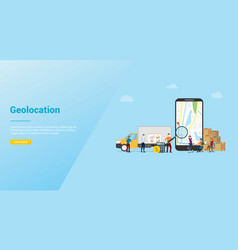 geolocation optimization search for best routes vector image