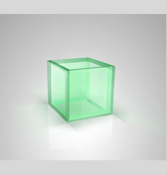glass box vector image