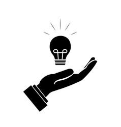 Hand and idea vector