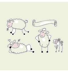 Happy Sheep vector