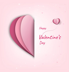 happy valentines day decoration cute design vector image