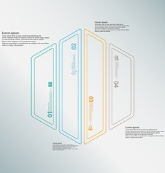 Hexagon infographic template divided to four color vector image