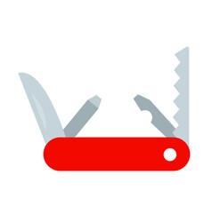 hiking knife flat isolated vector image