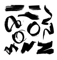 ink brush element set1 vector image