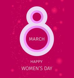 International womens day greeting card vector