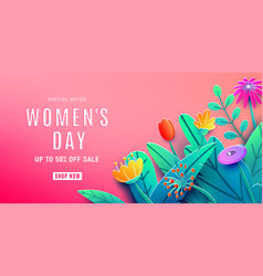 International womens day sale background with vector