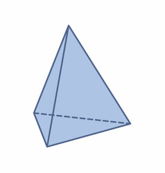 isolated triangular pyramid vector image