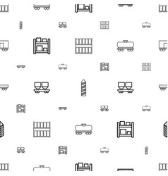 logistic icons pattern seamless white background vector image