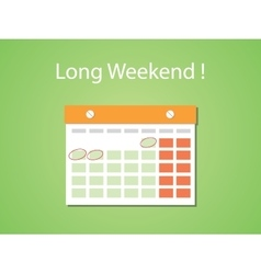 Long weekend concept with flat style vector