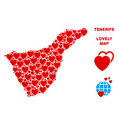 Lovely tenerife spain island map vector