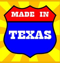 Made in texas shield vector