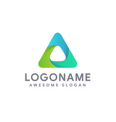 modern abstract triangle logo icon template vector image