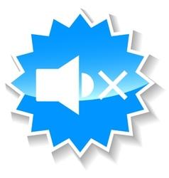 No sound blue icon vector