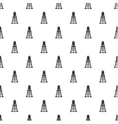 oil derrick pattern seamless vector image