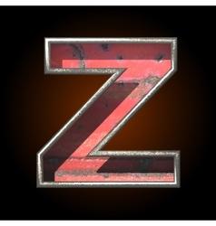 Old metal letter z vector