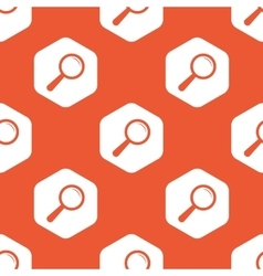 Orange hexagon search pattern vector