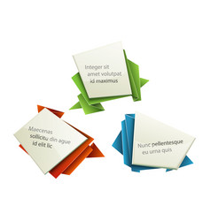 origami tags vector image